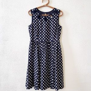 Kate Spade Polka Dot Cutout Neckline Dress 8
